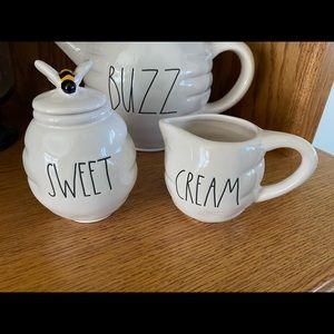 Rae Dunn Bee SWEET Cream & SUGAR Set